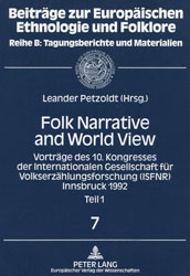 Leander Petzoldt, Folk Narrative and World View